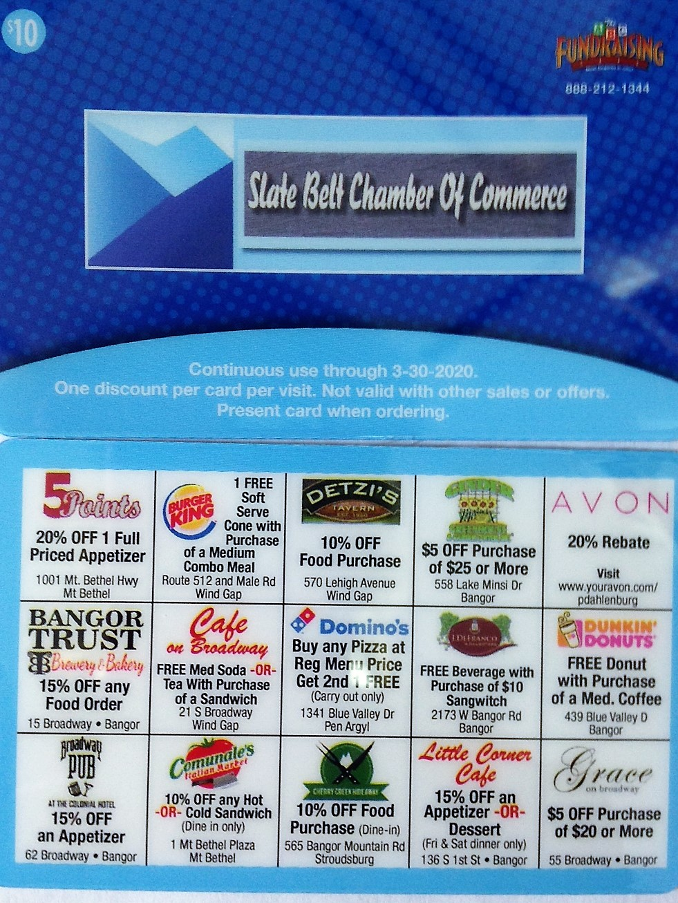 2019/2020 Slate Belt Discount Cards are now available! - Slate Belt